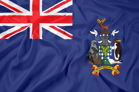 polity: Waving Flag of South Georgia and the South Sandwich Islands Stock Photo