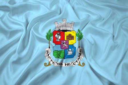 sofia: Waving Flag of Sofia Stock Photo