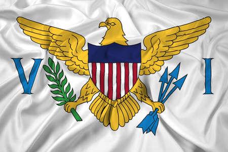 virgin islands: Waving Flag of the U.S. Virgin Islands