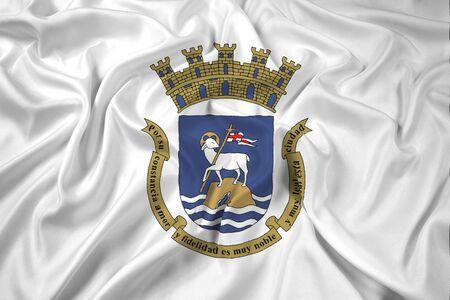 puerto rico: Waving Flag of San Juan, Puerto Rico