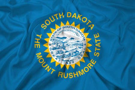 south dakota: Waving Flag of South Dakota State