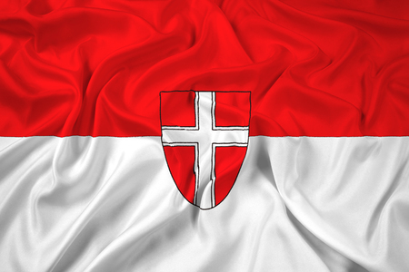 polity: Waving Flag of Vienna State Stock Photo