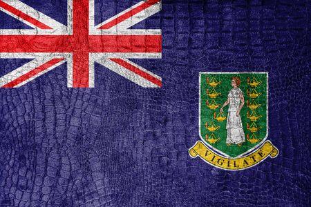 virgin islands: Flag of British Virgin Islands, on a luxurious, fashionable canvas