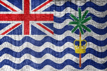 indian ocean: Flag of British Indian Ocean Territory, on a luxurious, fashionable canvas