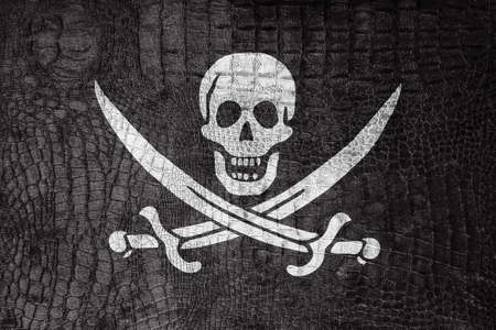 calico: Calico Jack Pirate Flag, on a luxurious, fashionable canvas