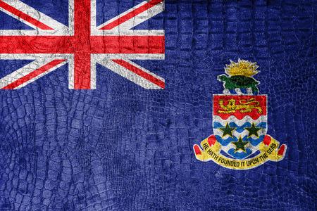 cayman islands: Flag of Cayman Islands, on a luxurious, fashionable canvas Stock Photo