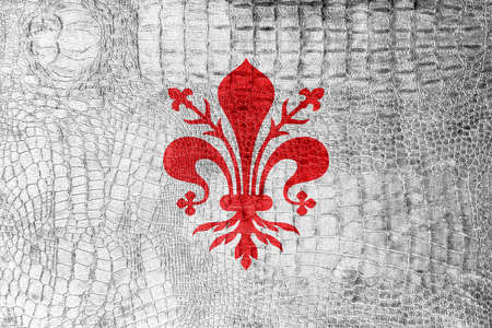 florence: Flag of Florence, on a luxurious, fashionable canvas