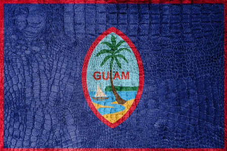 unincorporated: Flag of Guam, on a luxurious, fashionable canvas