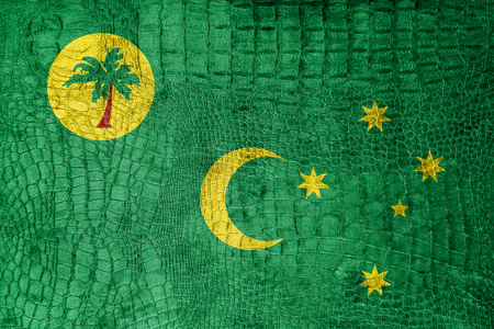 cocos: Flag of Cocos Islands, on a luxurious, fashionable canvas