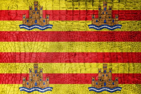 ibiza: Flag of Ibiza, on a luxurious, fashionable canvas