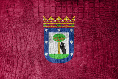 madrid: Flag of Madrid, on a luxurious, fashionable canvas