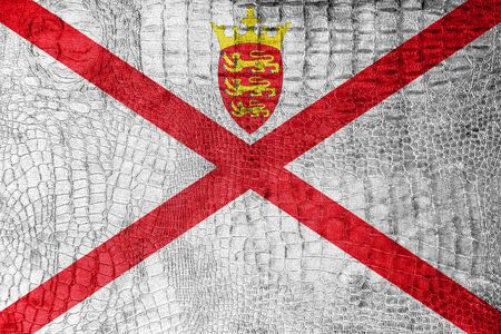 bailiwick: Flag of Jersey, on a luxurious, fashionable canvas