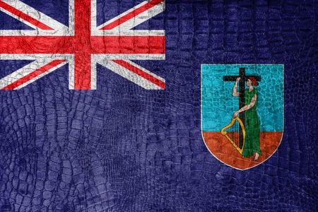 montserrat: Flag of Montserrat, on a luxurious, fashionable canvas Stock Photo