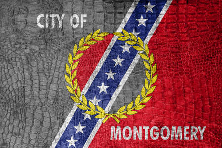 montgomery: Flag of Montgomery, Alabama, on a luxurious, fashionable canvas