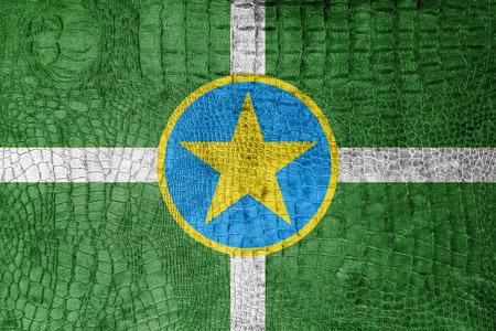 jackson: Flag of Jackson, Mississippi, on a luxurious, fashionable canvas Stock Photo
