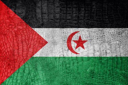 sahrawi arab democratic republic: Flag of Sahrawi Arab Democratic Republic, on a luxurious, fashionable canvas
