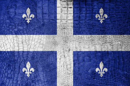 quebec: Flag of Quebec, on a luxurious, fashionable canvas