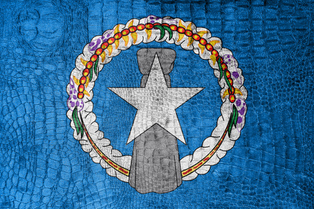 mariana: Flag of Northern Mariana Islands, on a luxurious, fashionable canvas