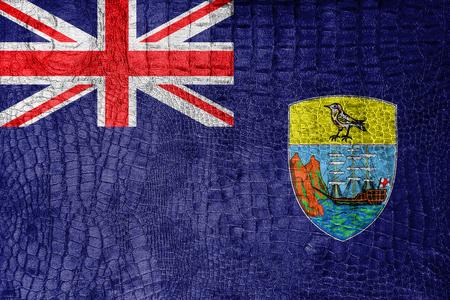 helena: Flag of Saint Helena, on a luxurious, fashionable canvas