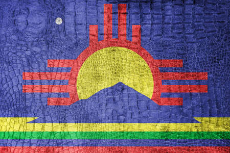 roswell: Flag of Roswell, New Mexico, on a luxurious, fashionable canvas Stock Photo