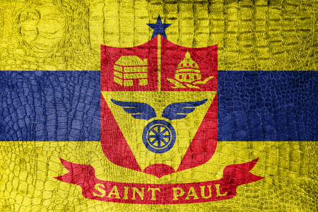 paul: Flag of Saint Paul, Minnesota, on a luxurious, fashionable canvas