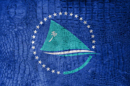 pacific: Flag of the Pacific Community, on a luxurious, fashionable canvas