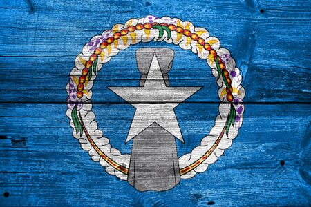 education policy: Flag of Northern Mariana Islands, painted on old wood plank background