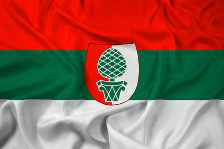 education policy: Waving Flag of Augsburg Stock Photo