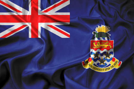 cayman islands: Waving Flag of Cayman Islands