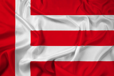 eindhoven: Waving Flag of Eindhoven Stock Photo