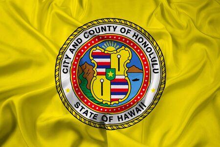 honolulu: Waving Flag of Honolulu, Hawaii