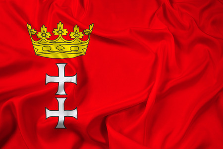 gdansk: Waving Flag of Gdansk, Poland