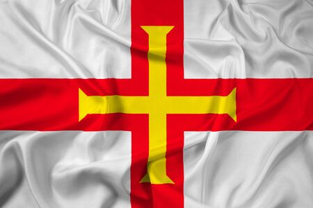 guernsey: Waving Flag of Guernsey