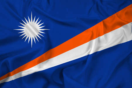 marshall: Waving Flag of Marshall Islands Stock Photo