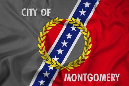 alabama flag: Waving Flag of Montgomery, Alabama