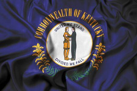kentucky: Waving Flag of Kentucky State