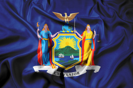 new york state: Waving Flag of New York State