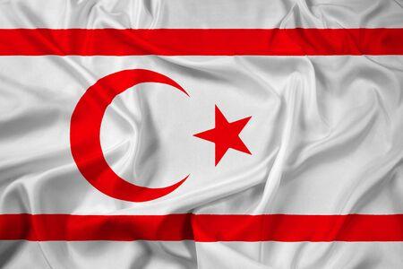 cyprus: Waving Flag of Northern Cyprus Stock Photo