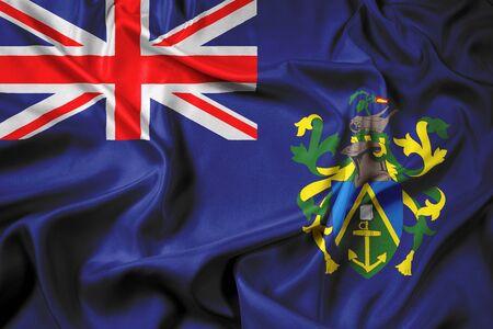 pitcairn: Waving Flag of Pitcairn Islands