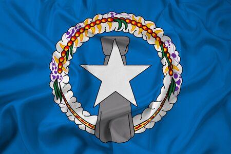 northern: Waving Flag of Northern Mariana Islands Stock Photo