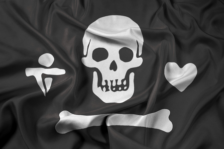 bonnet: Waving Stede Bonnet Pirate Flag