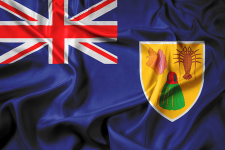 the turks: Waving Flag of Turks and Caicos Islands