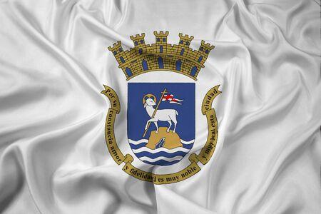 rico: Waving Flag of San Juan, Puerto Rico