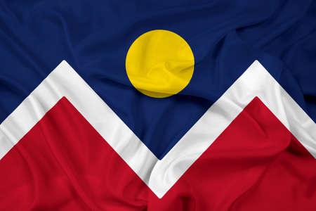 colorado: Waving Flag of Denver, Colorado