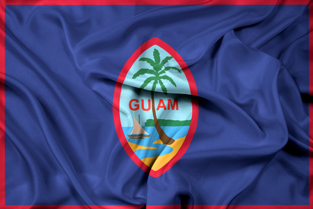 guam: Waving Flag of Guam