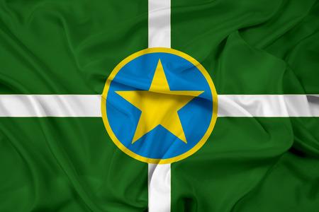 jackson: Waving Flag of Jackson, Mississippi Stock Photo