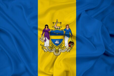 philadelphia: Waving Flag of Philadelphia, Pennsylvania