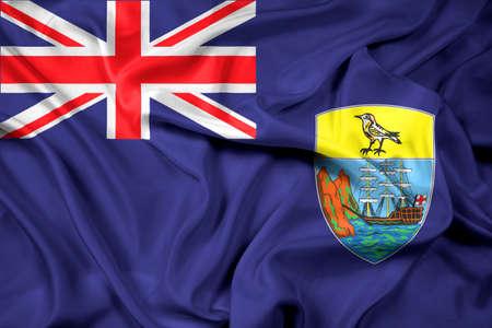 education policy: Waving Flag of Saint Helena Stock Photo