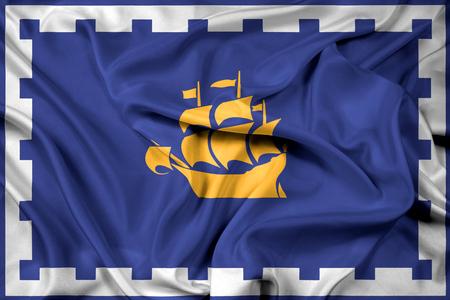 quebec: Waving Flag of Quebec City