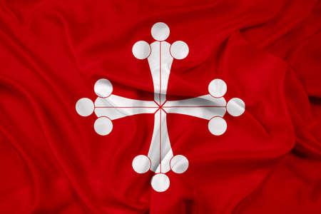 pisa: Waving Flag of Pisa Stock Photo